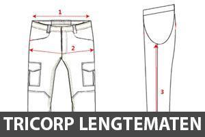 Tricorp lengtematen (extra mogelijkheden voor mensen met lange of korte benen)