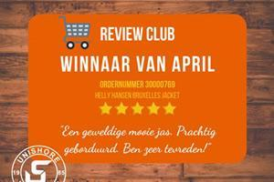 De winnaar van de april is bekend!