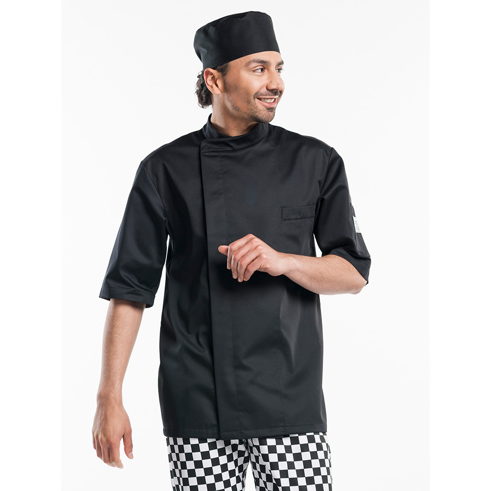 Chaud Devant Koksbuis Bacio Black Short Sleeve XXL (Zwart)