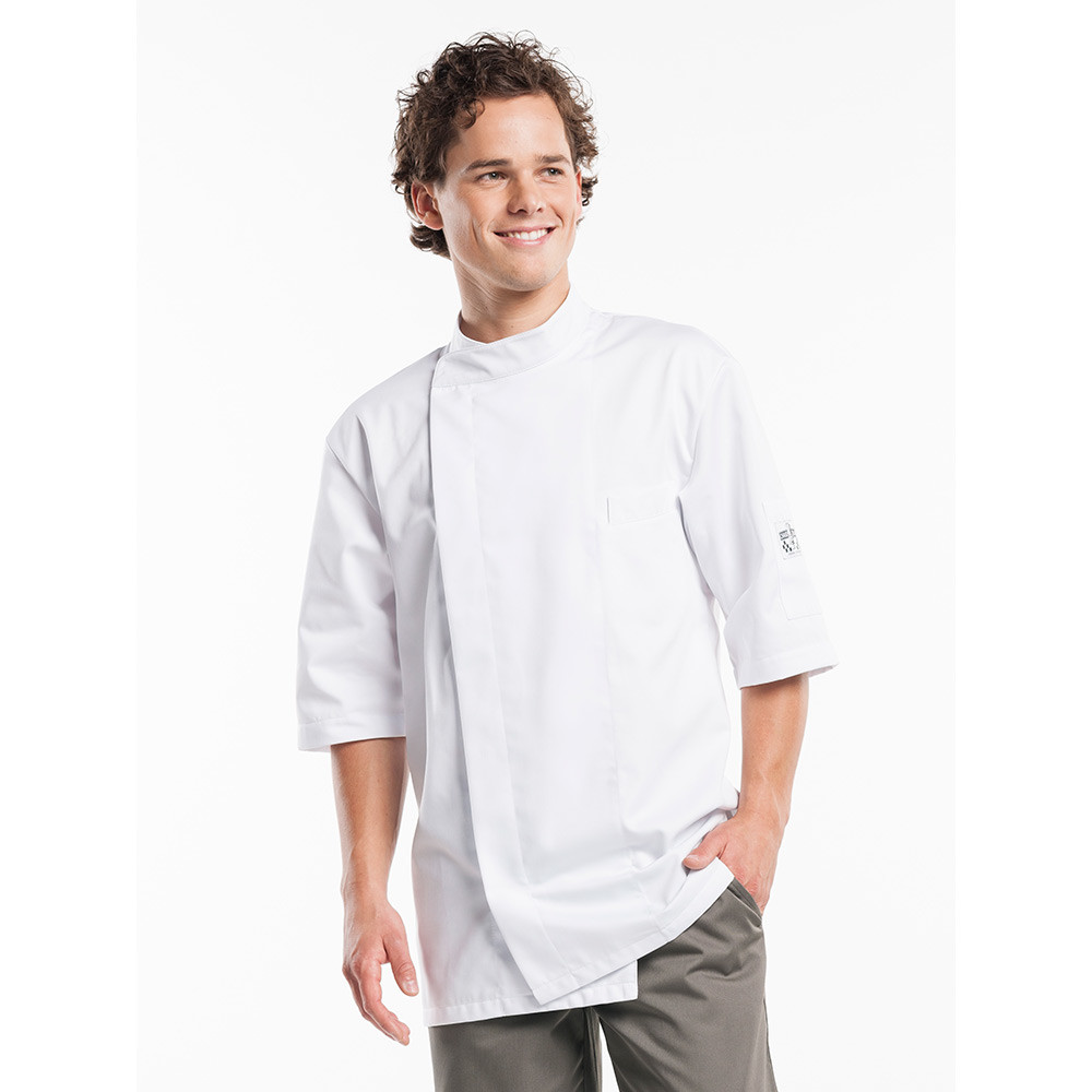 Chaud Devant Koksbuis Bacio White Short Sleeve S (Wit)