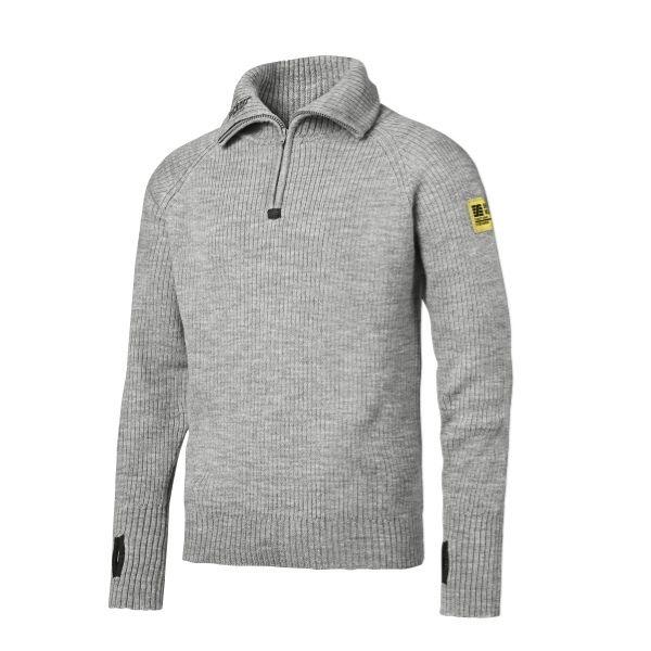 Snickers Wool Half Zip Sweater (2800 Grijsmelange) XL