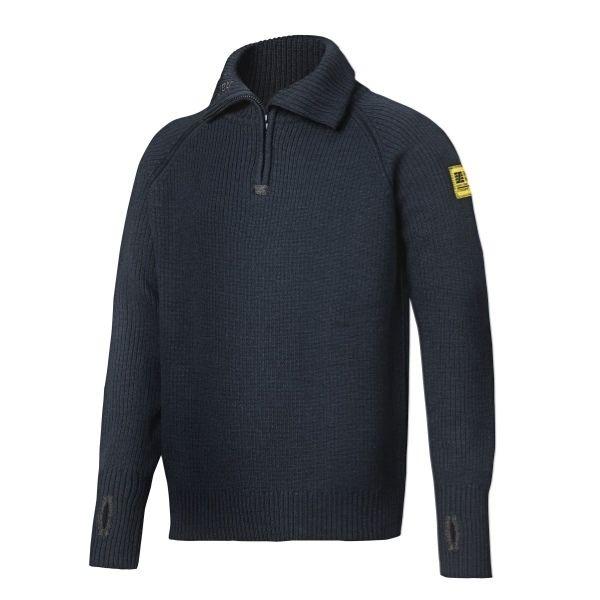 Snickers Wool Half Zip Sweater (Navy) XS