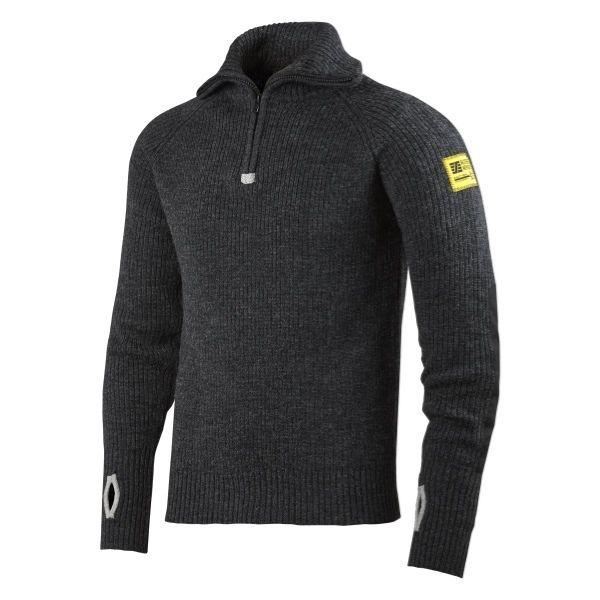 Snickers Wool Half Zip Sweater (9800 Antraciet) L