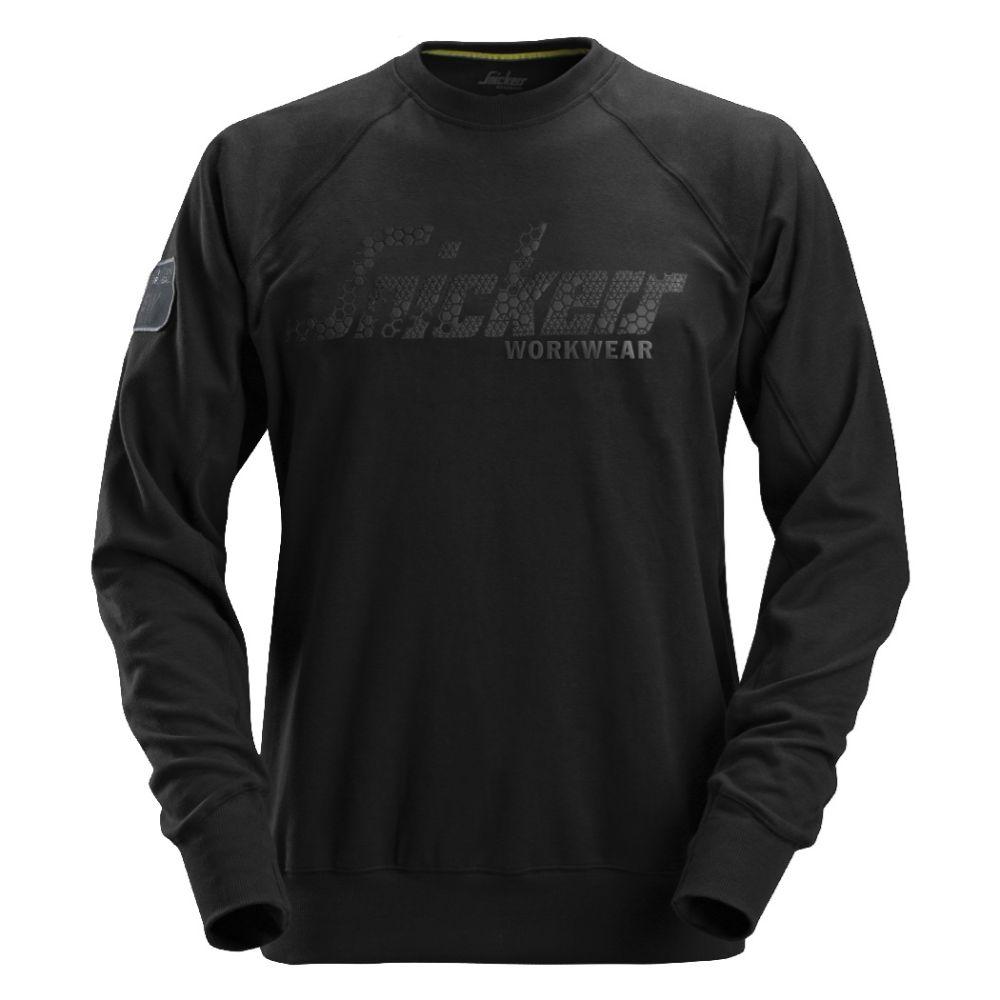 Snickers Logo Sweatshirt Crewneck (0400 Zwart) XL