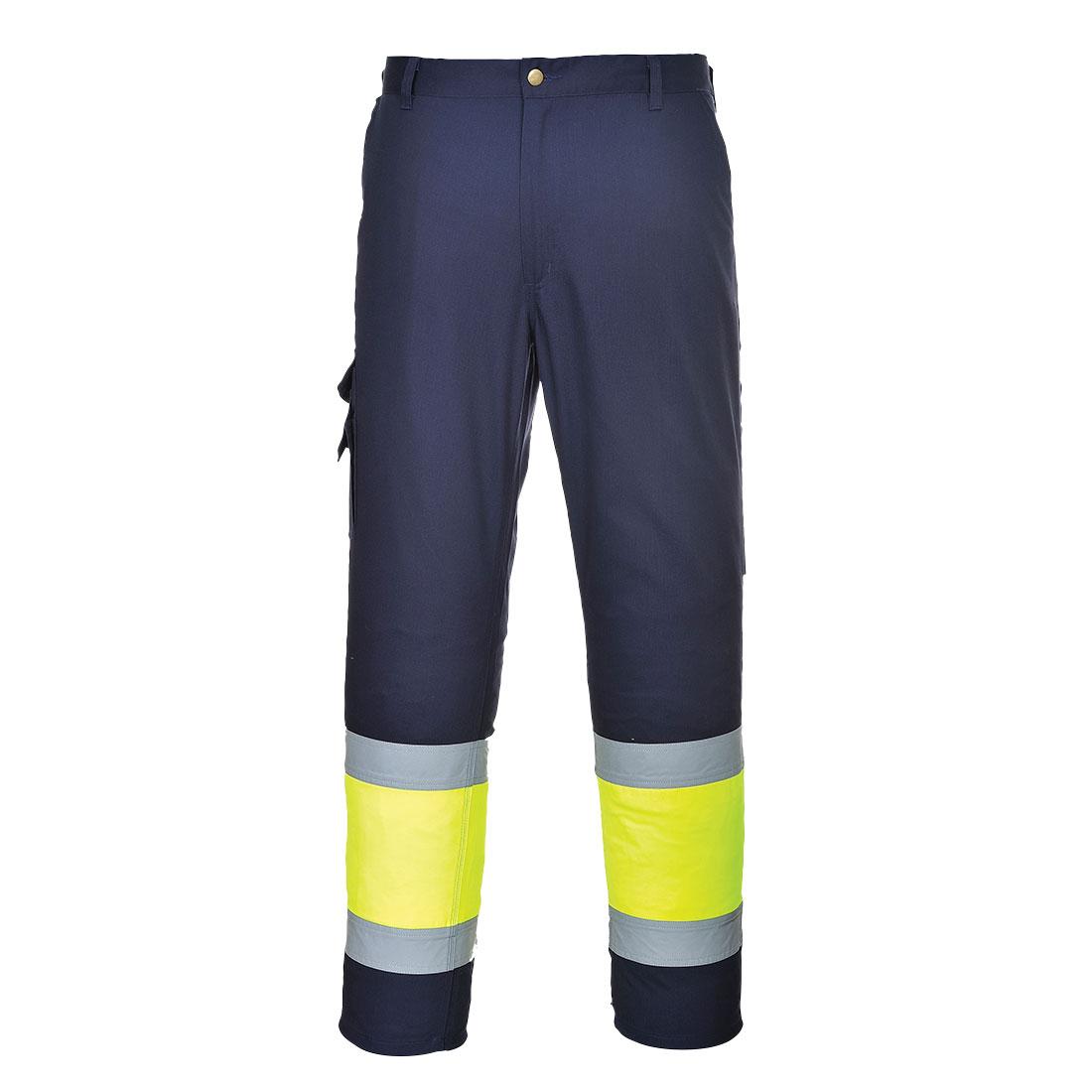 Portwest Hi-Vis Bicolor Combat Trousers (Geel/Navy) XL