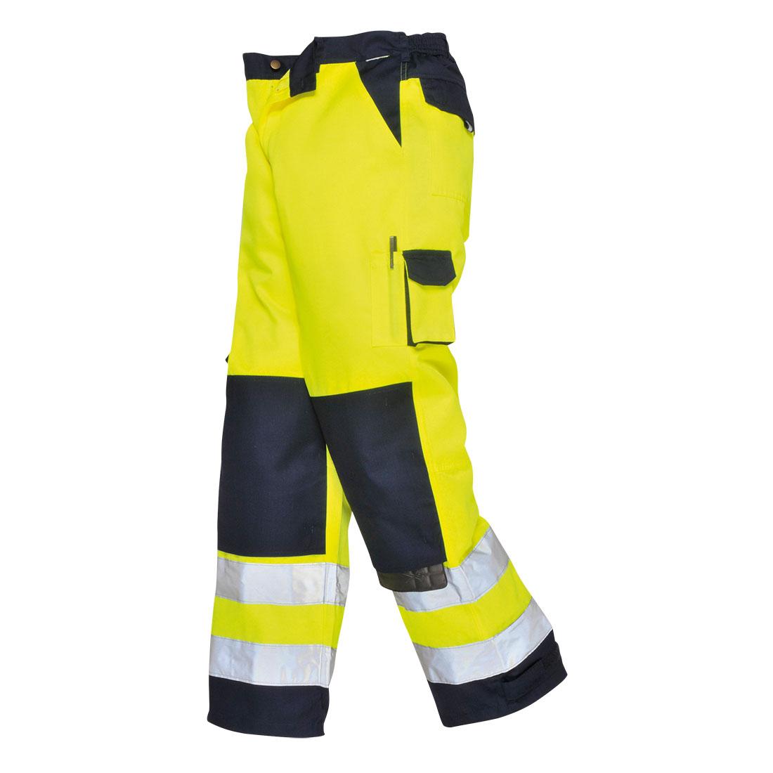 Portwest Texo Lyon Hi-Vis Trousers (Geel/Navy) XS
