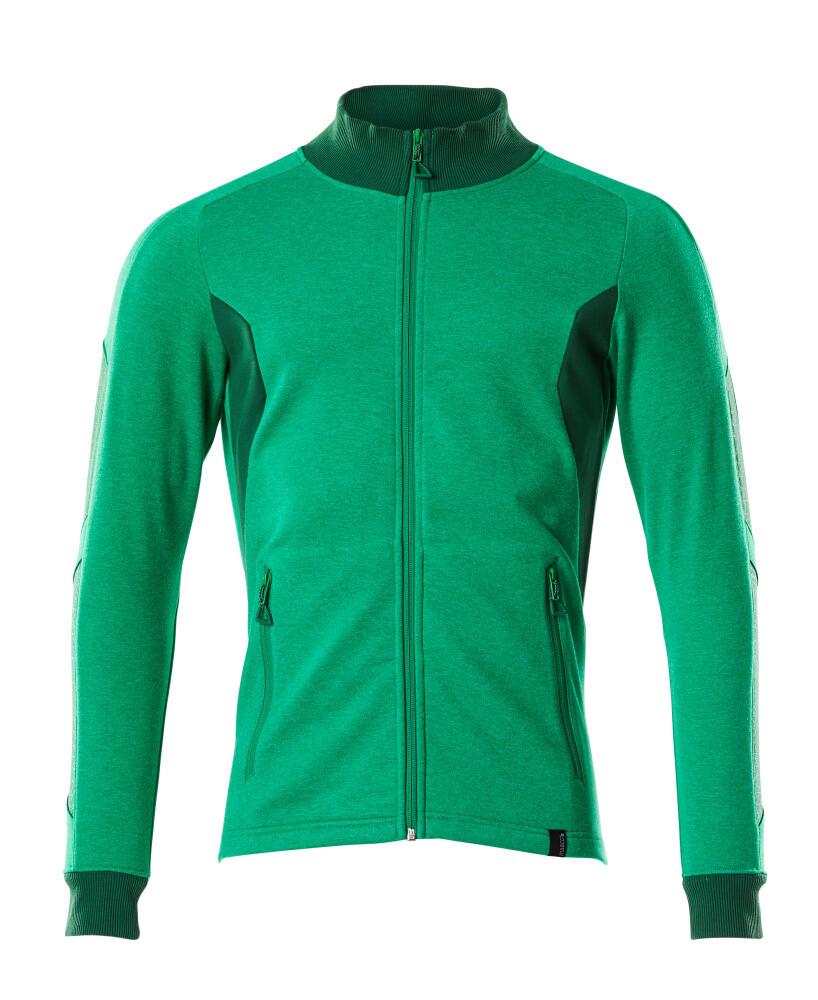 Mascot Sweatvest Modern Fit (Heldergroen/Groen) XL
