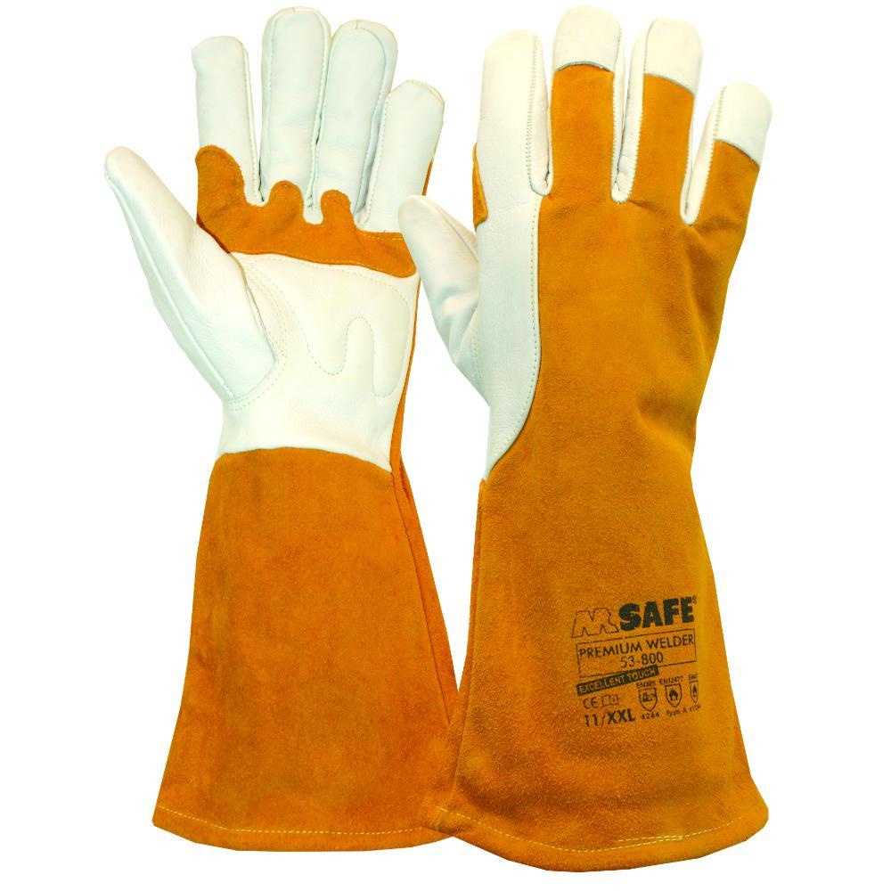 6Pr M-Safe Premium Welder 53-800 Handschoen (Bruin) 11/XXL