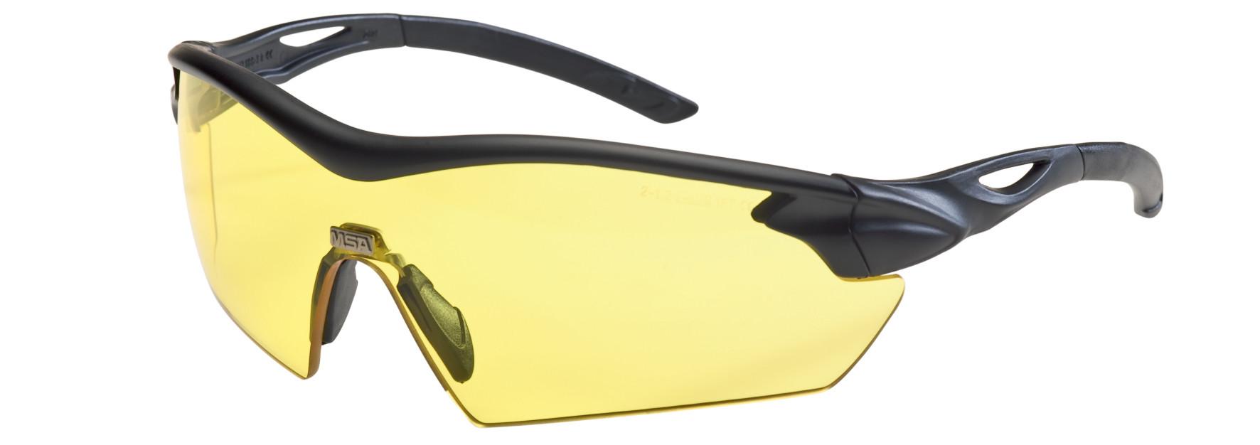 12ST MSA Veiligheidsbril Racers amber (Rood)