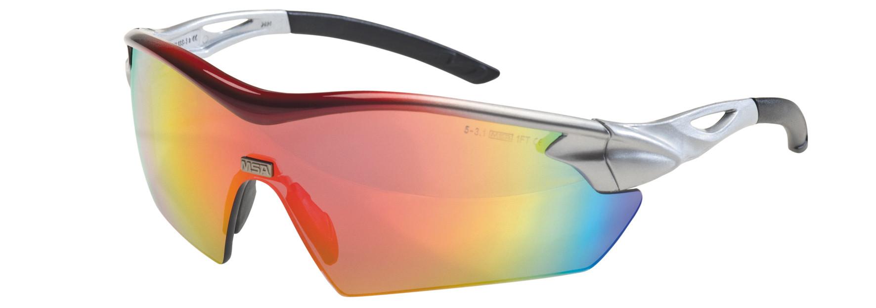 12ST MSA Veiligheidsbril Racers regenboog spiegellens