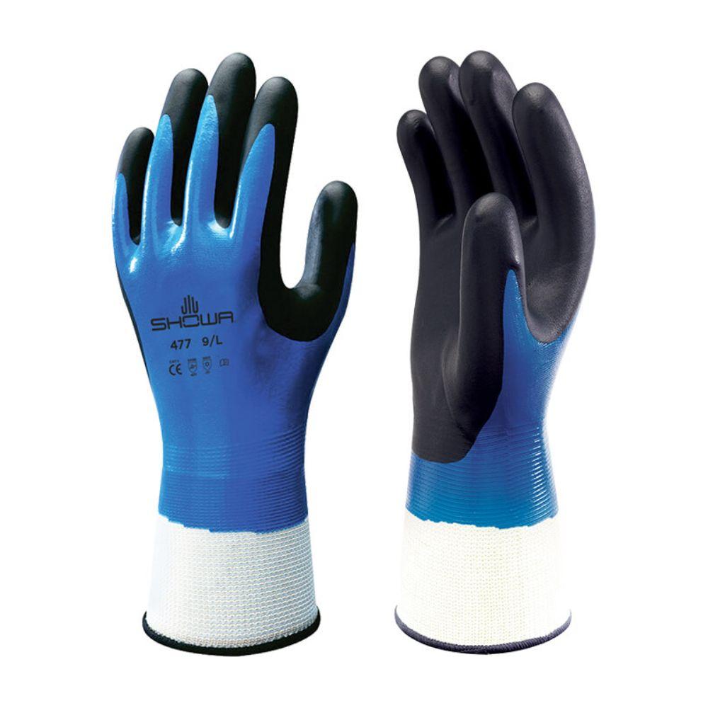 5pr Showa 477 waterdichte werkhandschoen (Kobalt) 7/S