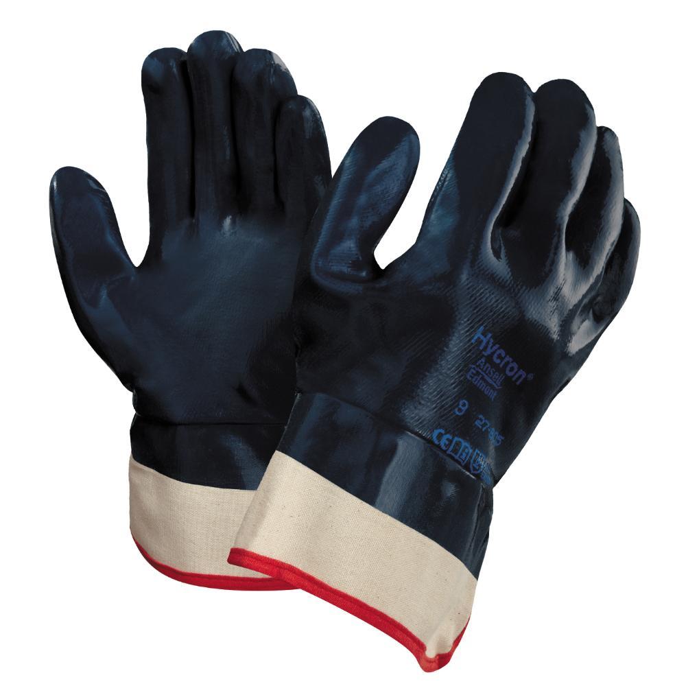 12 Paar Ansell Hycron 27-805 Handschoenen (Blauw) 9/L