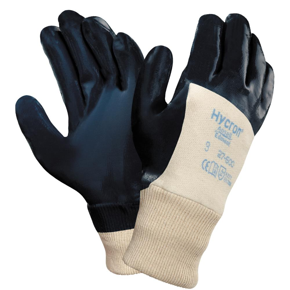 12Pr Ansell Hycron 27-600 Handschoenen (Blauw) 9/L