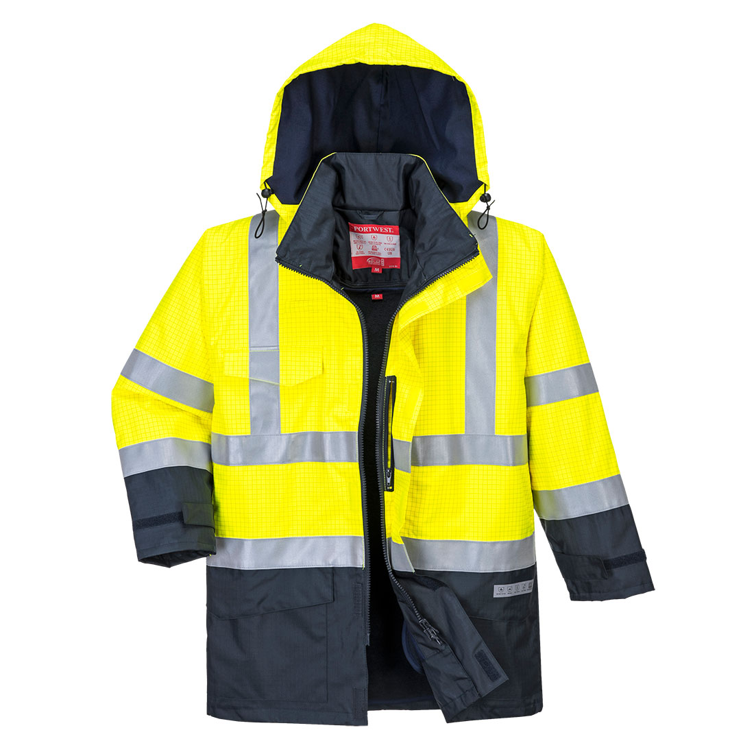 Portwest Bizflame Multi-Protection Jacket (Geel/Navy) XXL