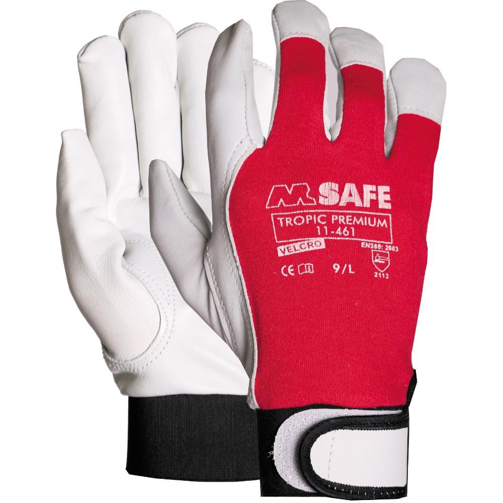 12Pr M-Safe Tropic Premium 11-461 Handschoen (Ro/Wi) 8/M