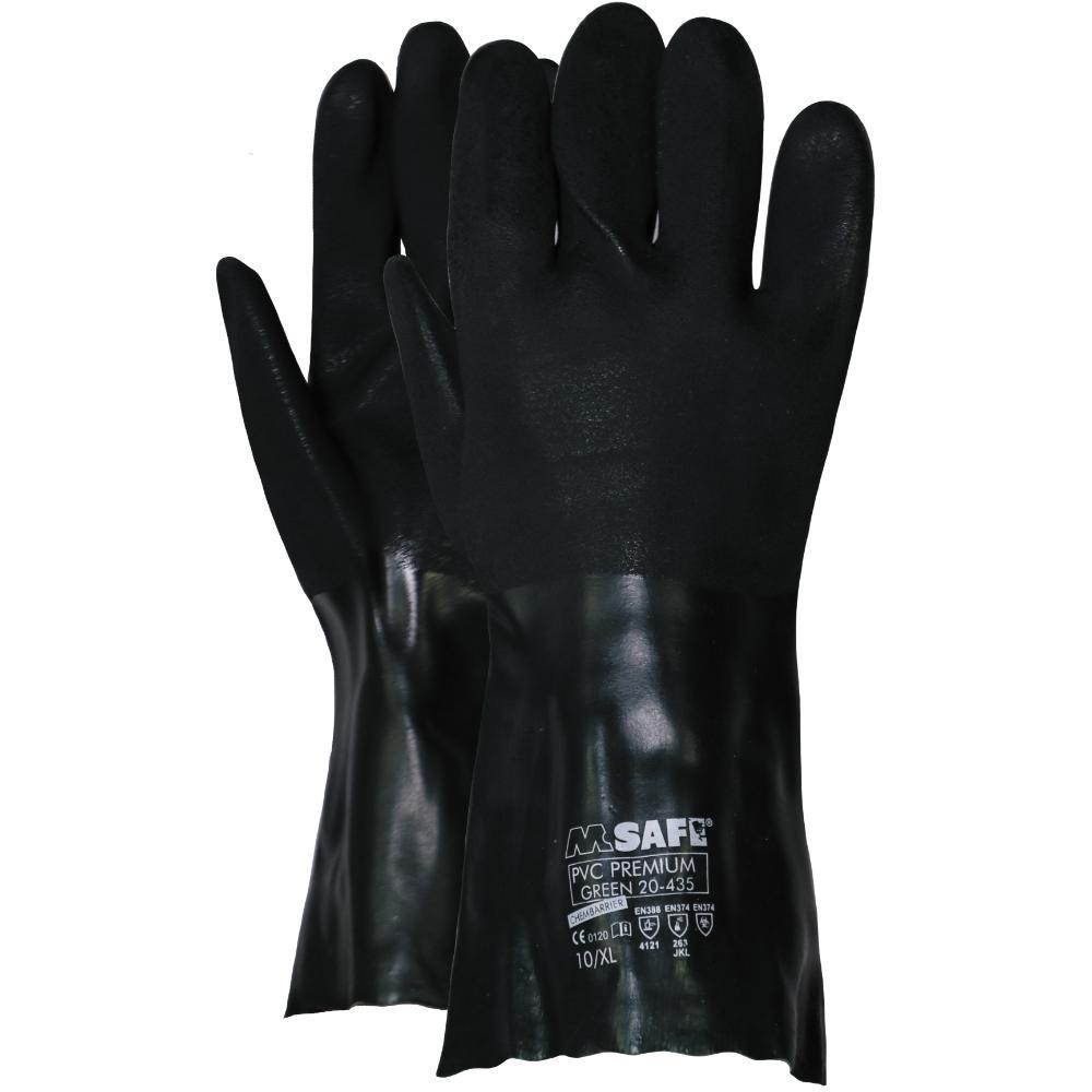 12Pr M-Safe Pvc Premium 350Mm Handschoenen (Groen) 9/L