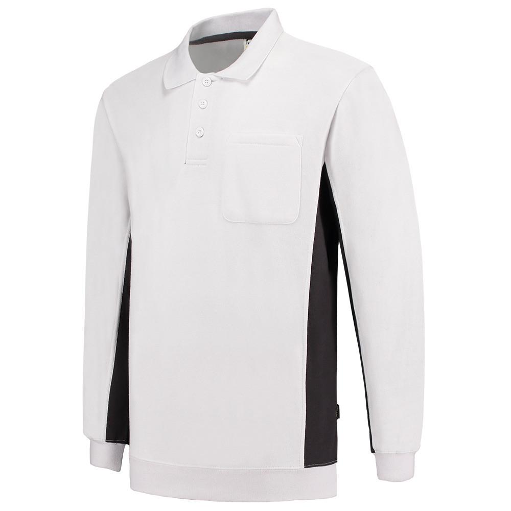 Tricorp Polosweater Bicolor Borstzak 302001 (Wit/Dgrijs) 3XL