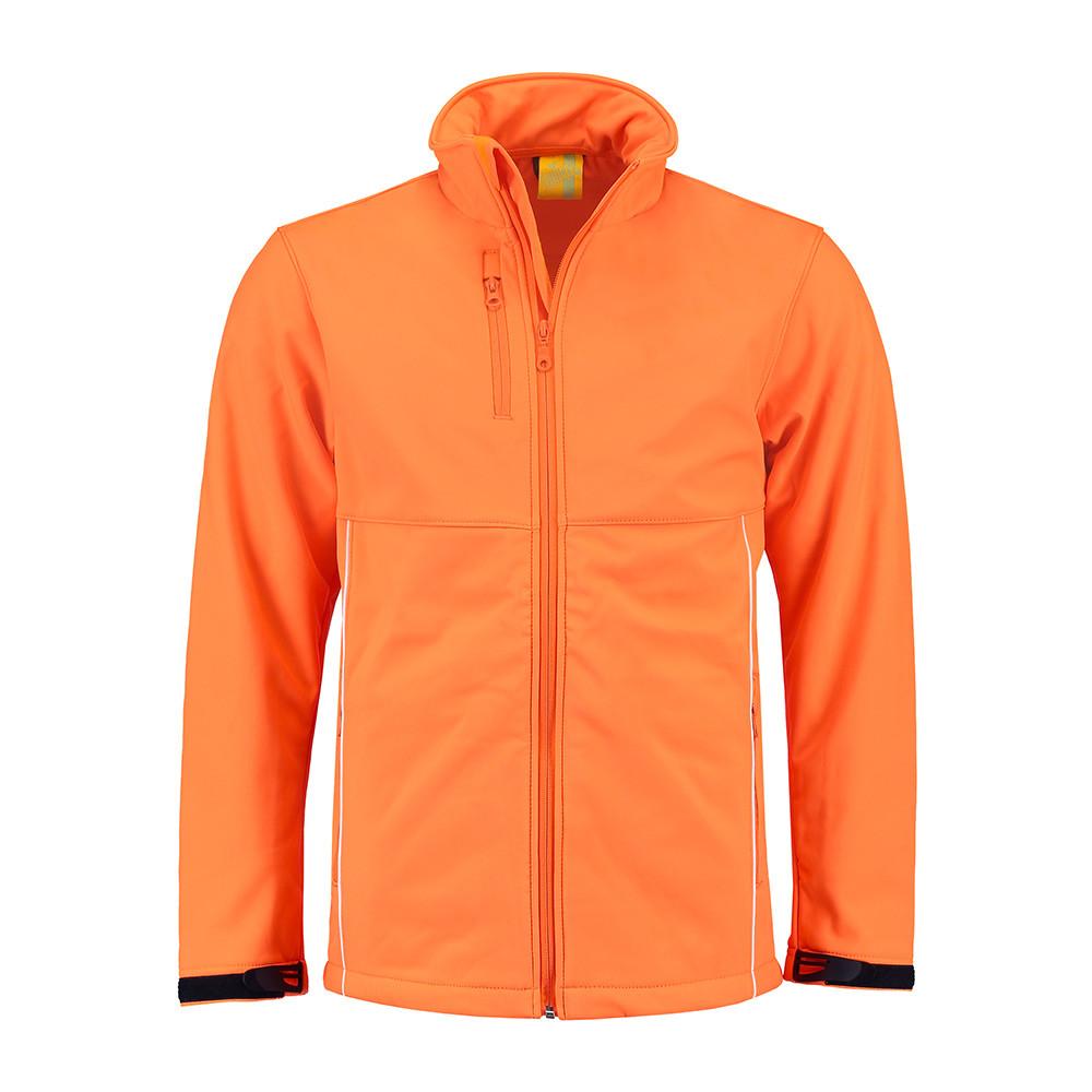 L&S Jas Softshell Heren (Oranje) L