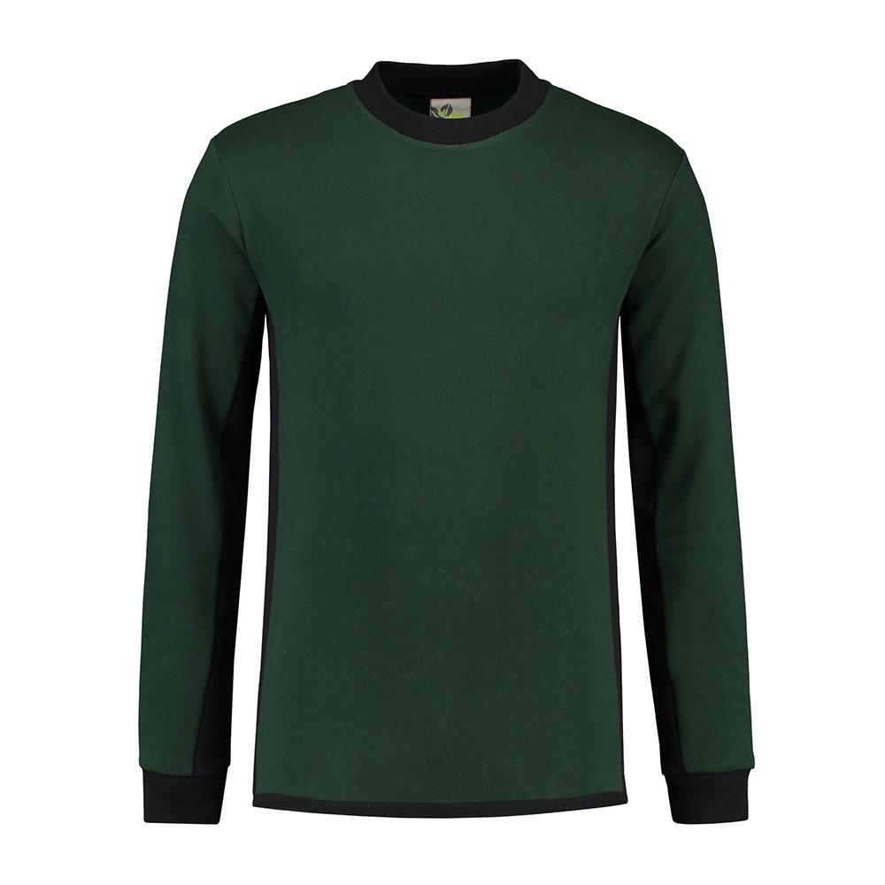 L&S Werkkleding Trui (Forest Green/Zwart) 4XL