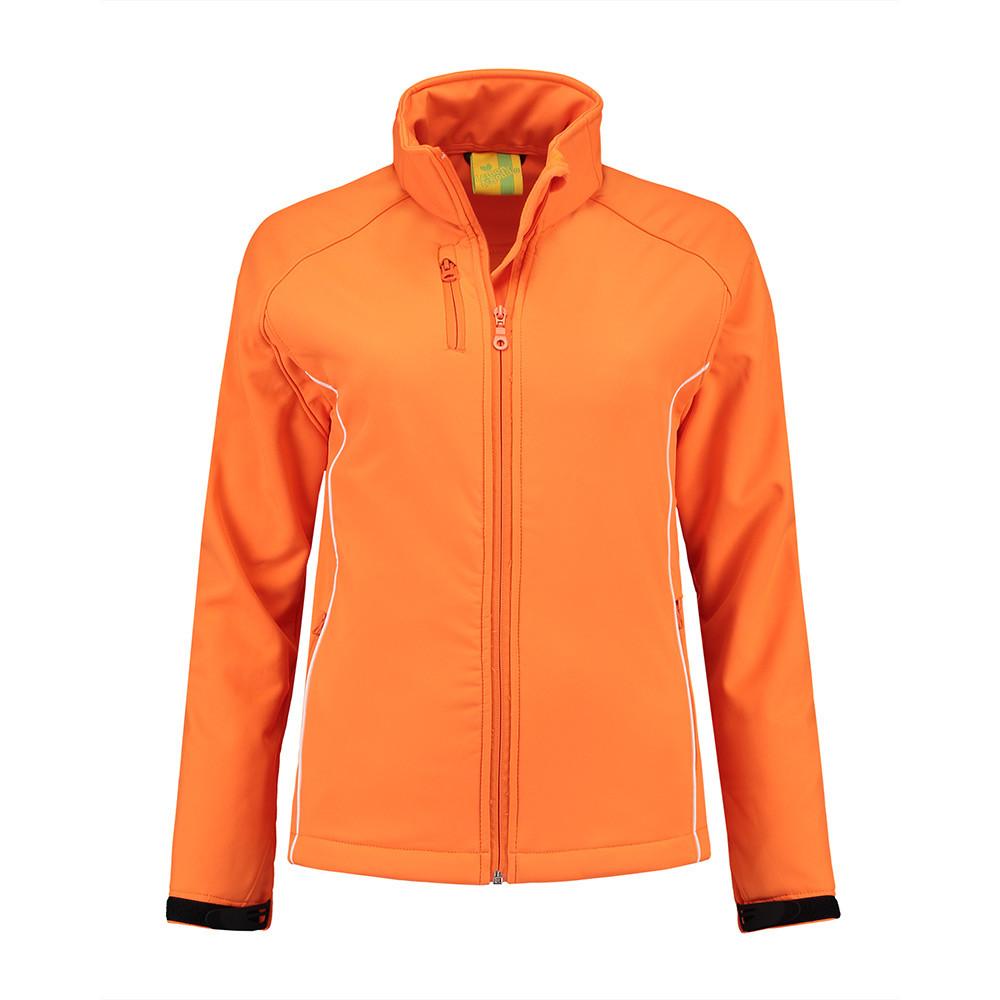 L&S Jas Softshell Dames (Oranje) XXL