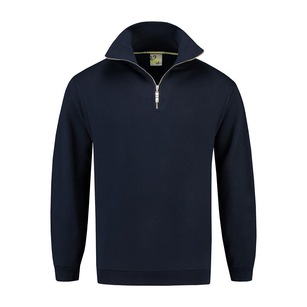 L&S Sweater met rits (Navy) 6XL