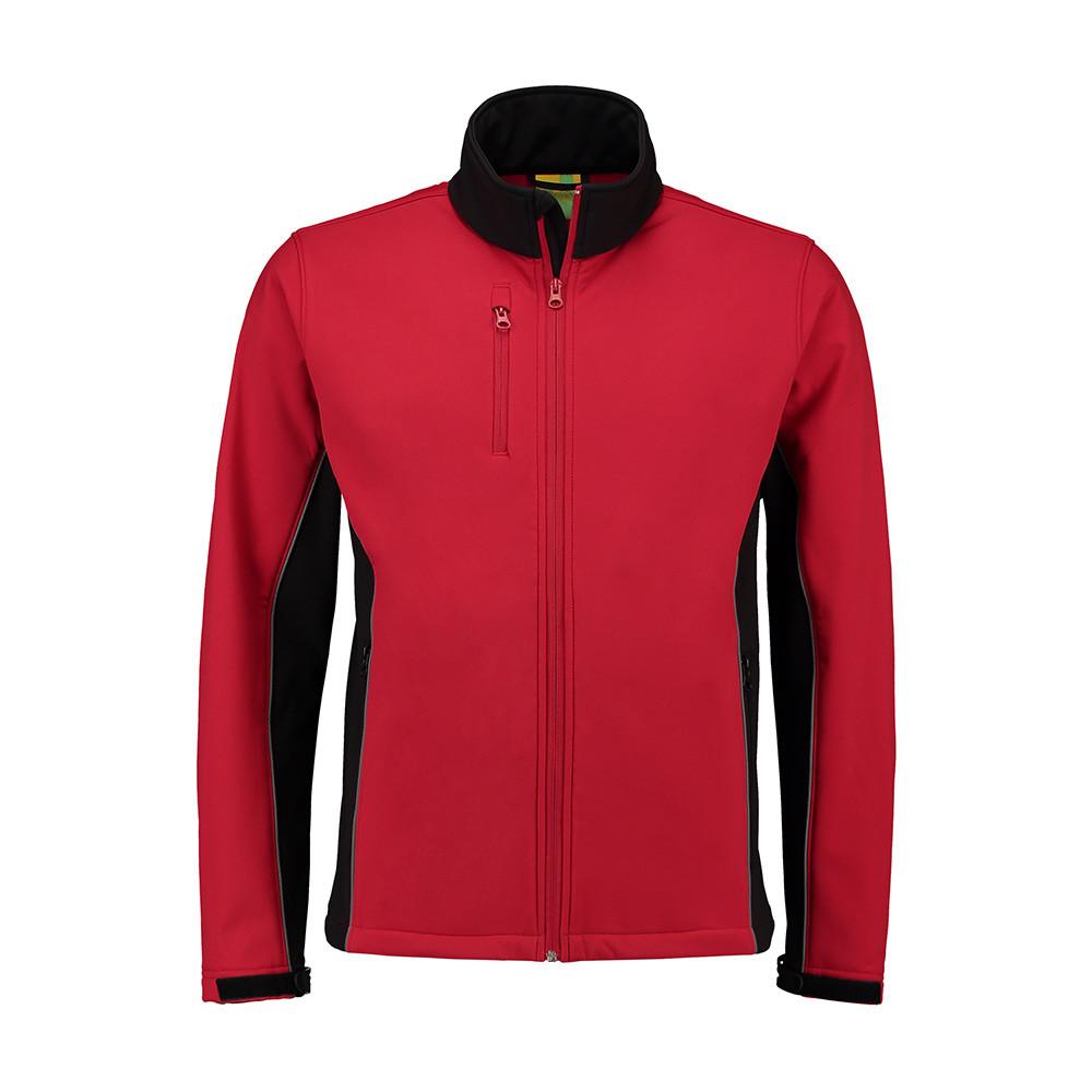 L&S Jas Softshell Werkkleding (Rood/Zwart) XXL