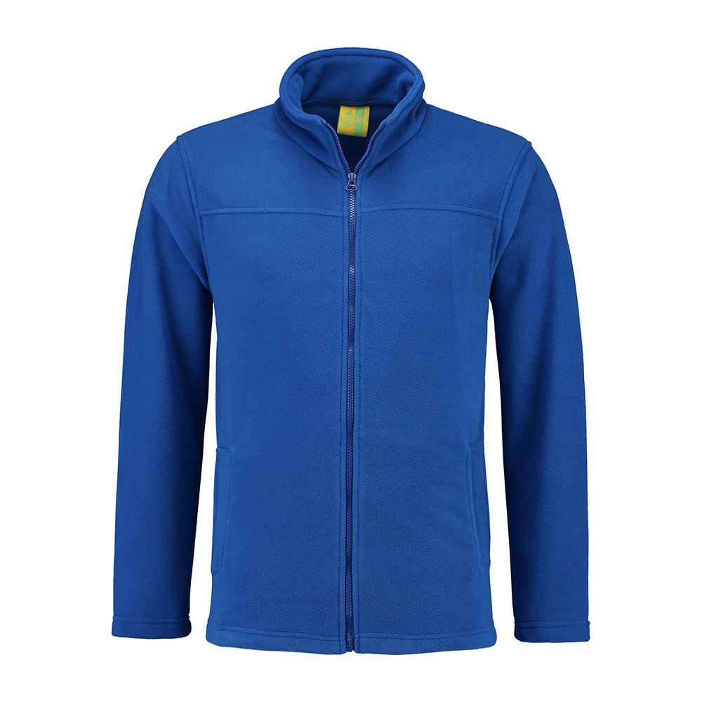 L&S Polar Fleece Cardigan Heren (Koningsblauw) M