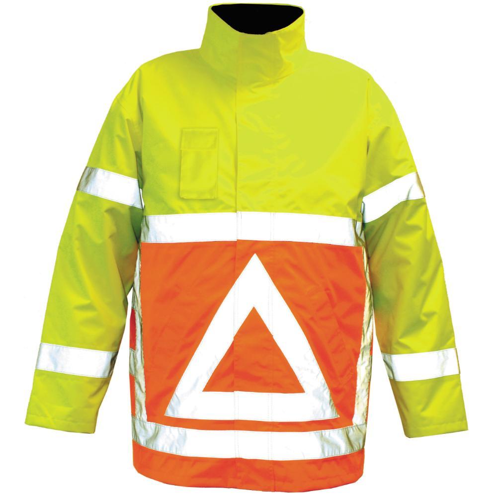 M-Wear Verkeersregelaarsparka M (OG Oranje/Geel)