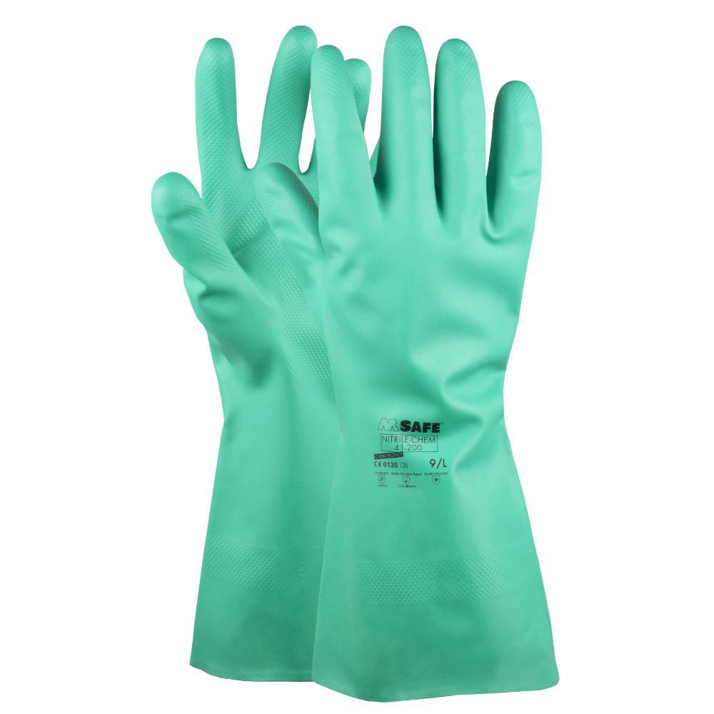12Pr M-Safe Nitrile-Chem 41-200 (groen) 7/S