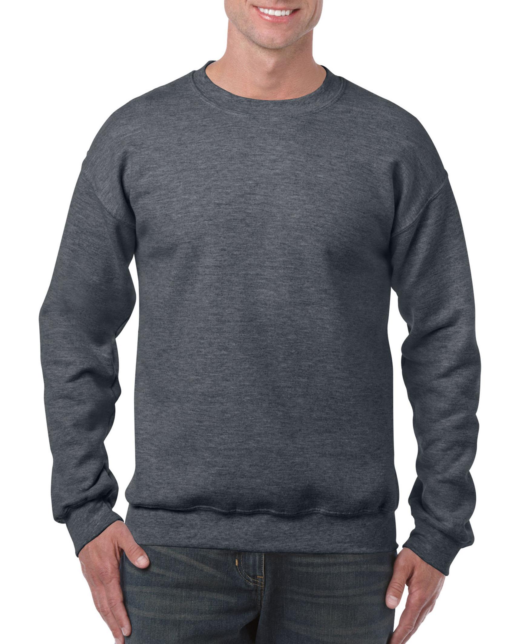 25St Gildan Sweater incl. 1k opdruk (Dark Heather)