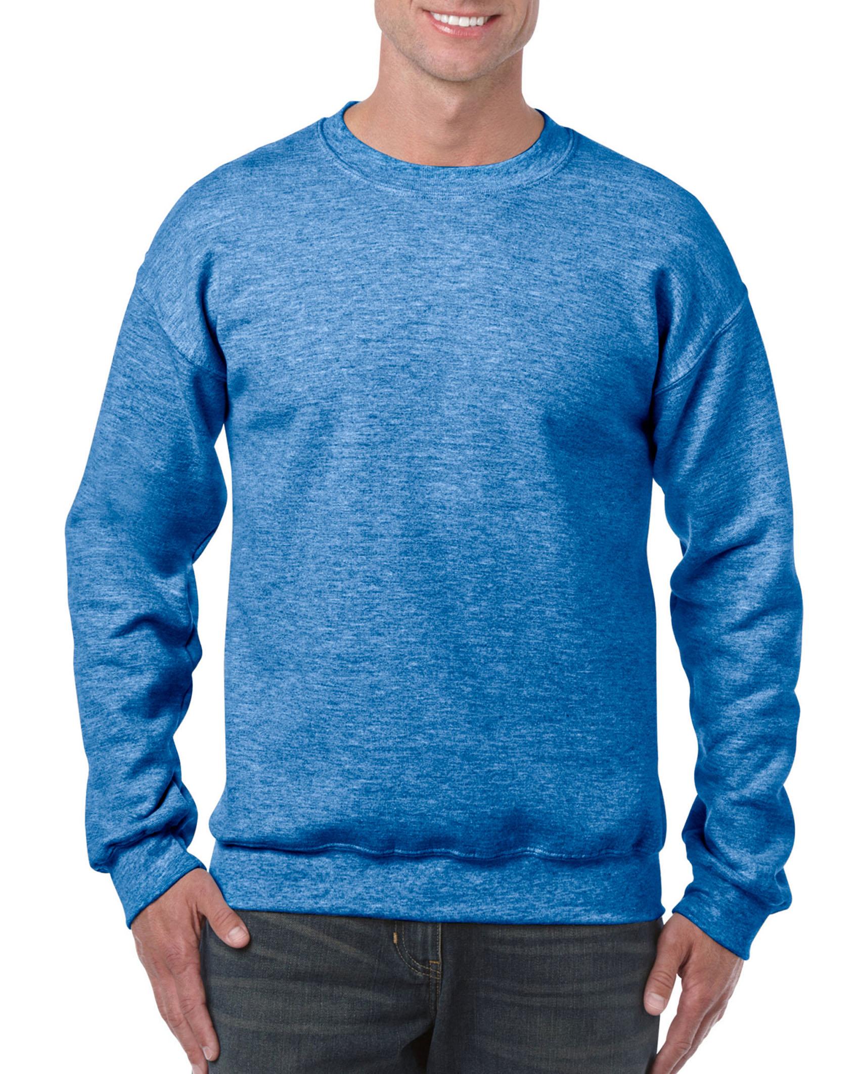 25St Gildan Sweater incl. 1k opdruk (Heather Royal)