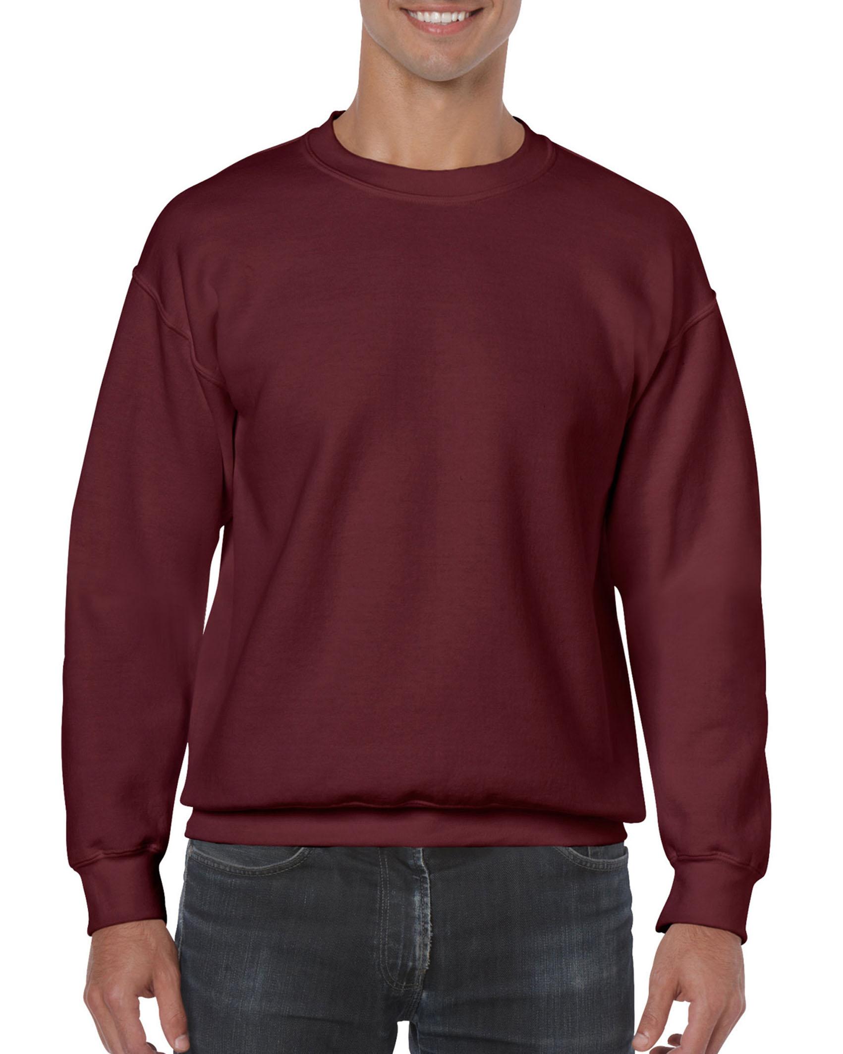 25St Gildan Sweater incl. 1k opdruk (Maroon)