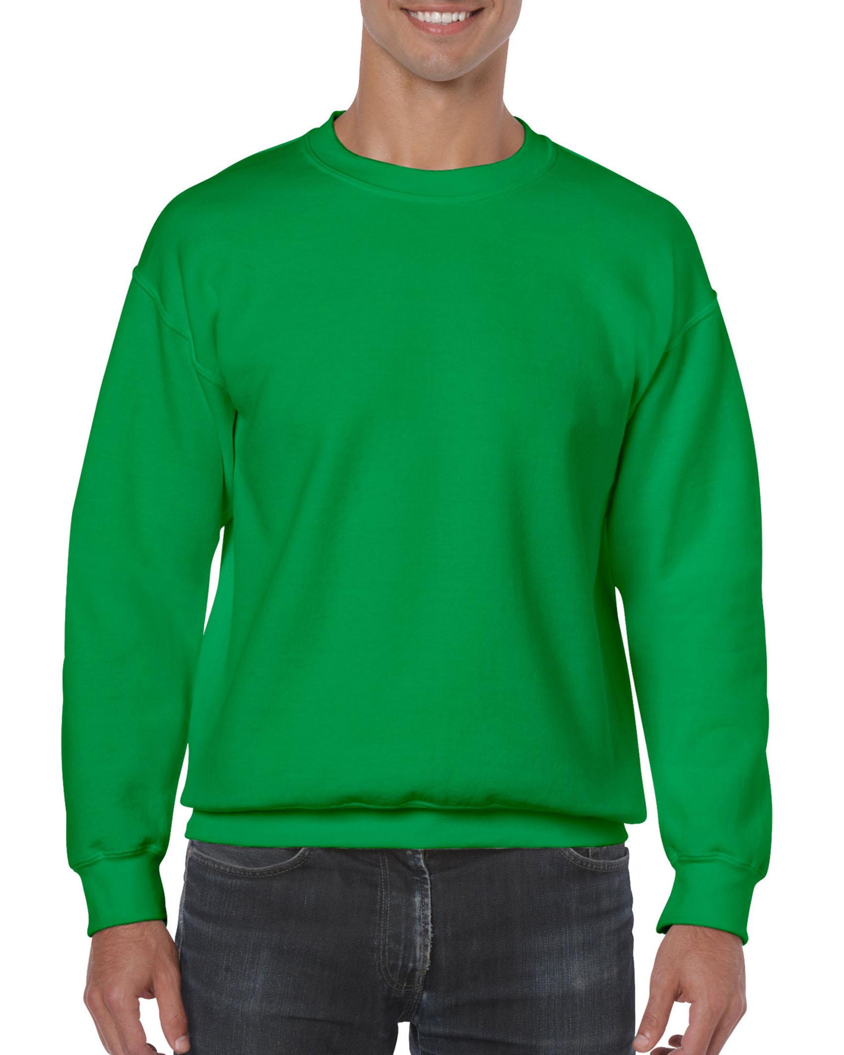 25St Gildan Sweater incl. 1k opdruk (Irish Green)