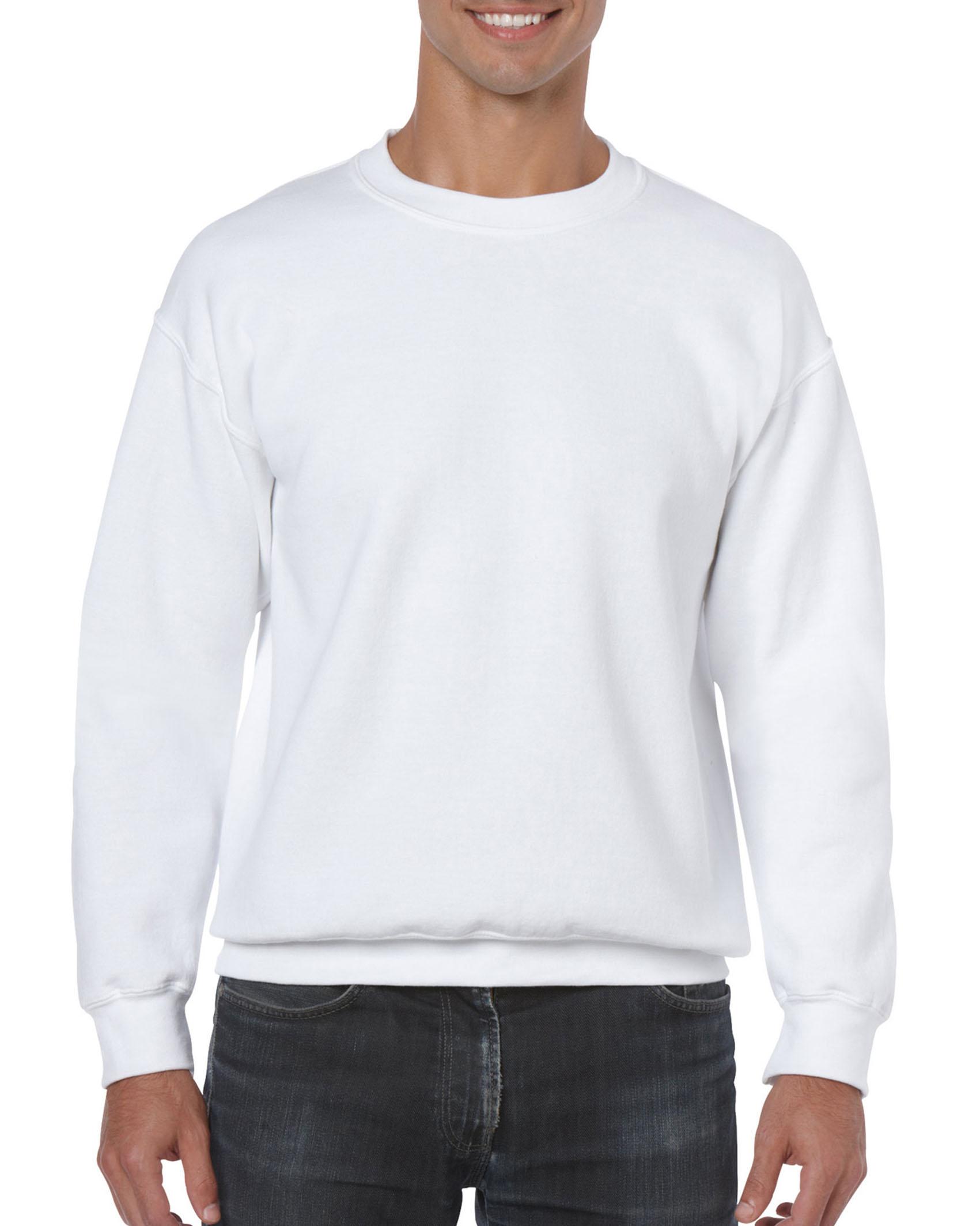 25St Gildan Sweater incl. 1k opdruk (White)