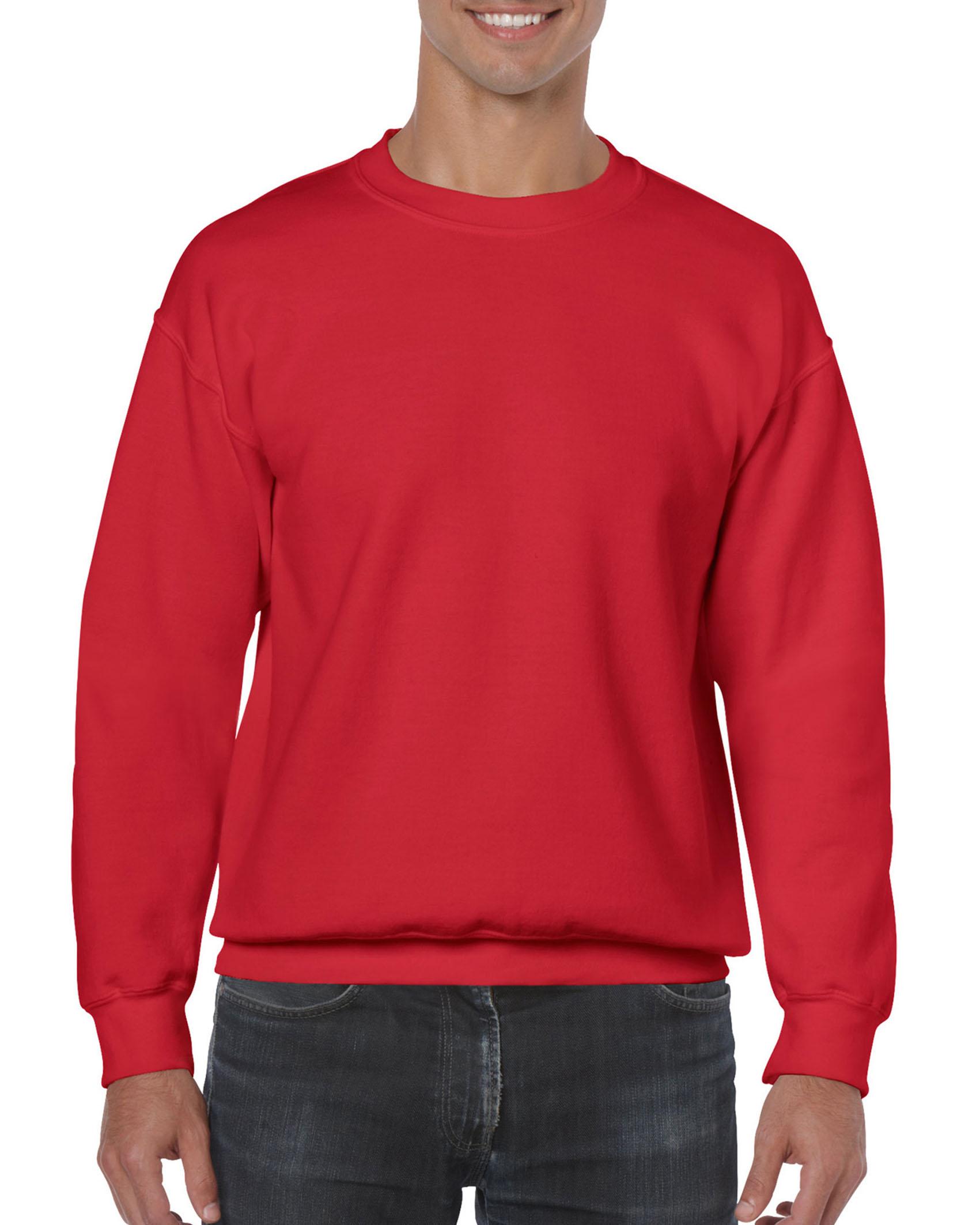 25St Gildan Sweater incl. 1k opdruk (Red)