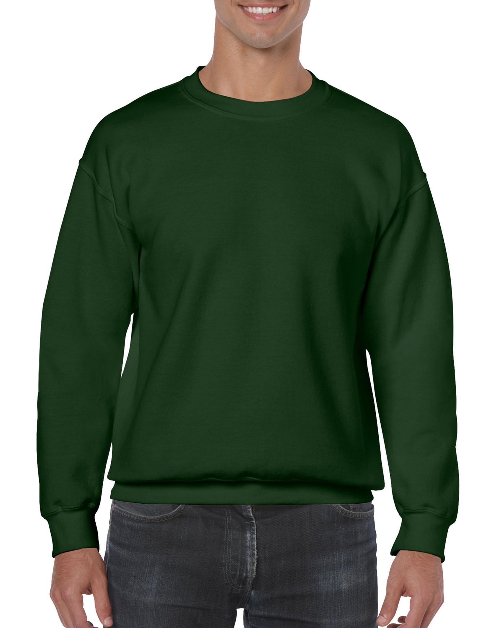 25St Gildan Sweater incl. 1k opdruk (Forest Green)