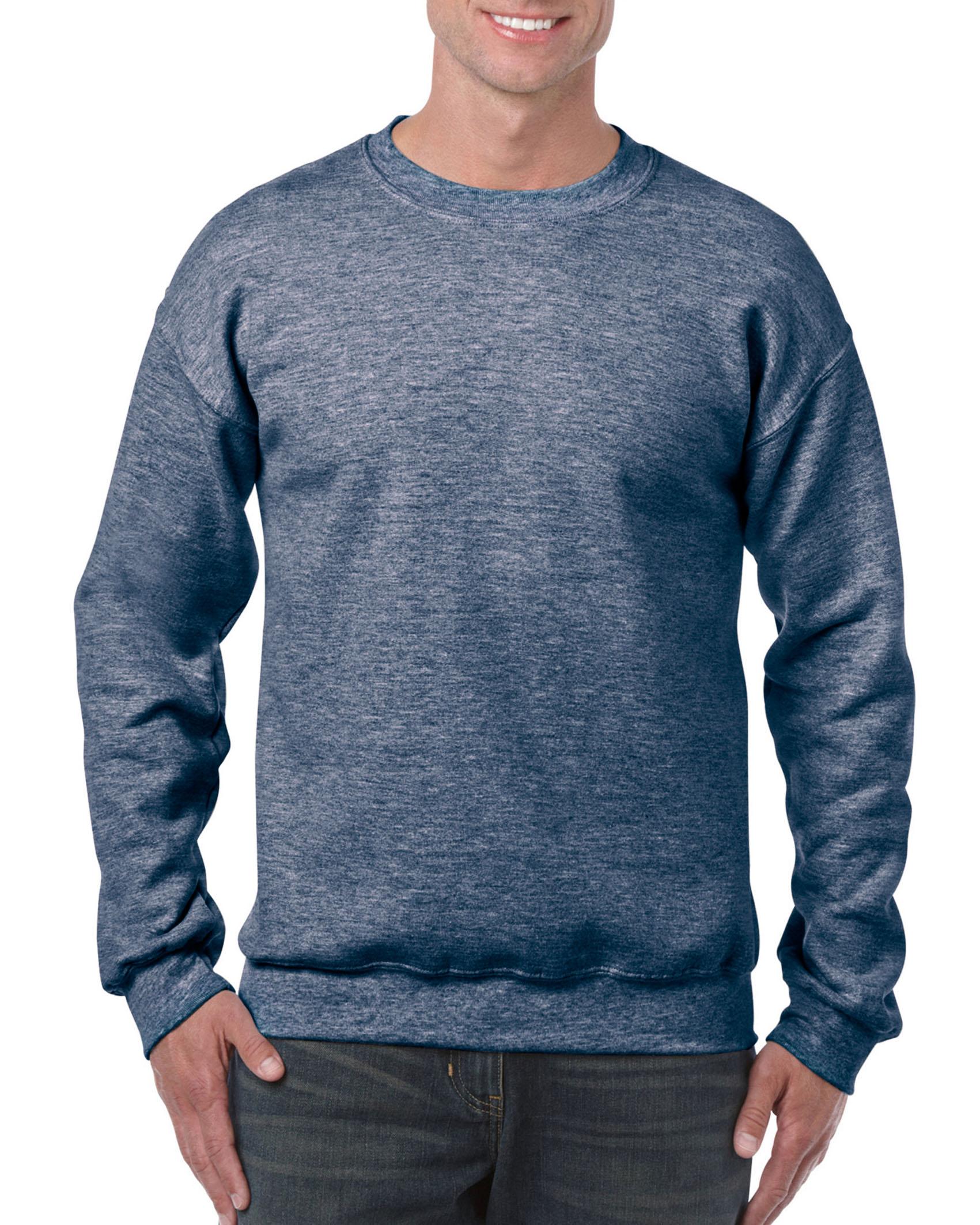 25St Gildan Sweater incl. 1k opdruk (Heather Navy)