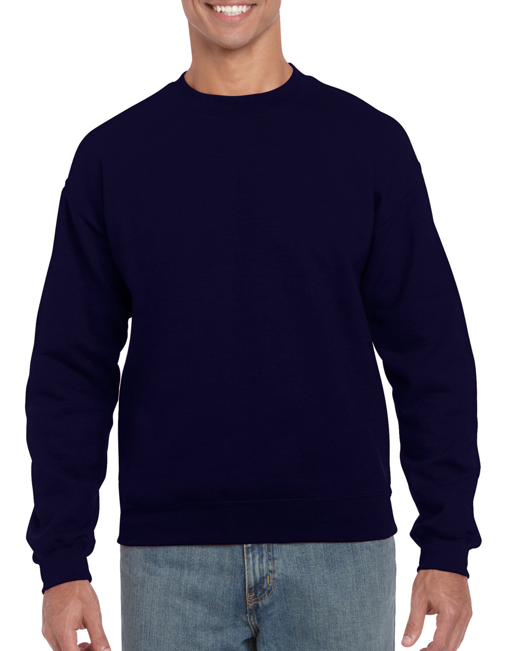 25St Gildan Sweater incl. 1k opdruk (Navy)