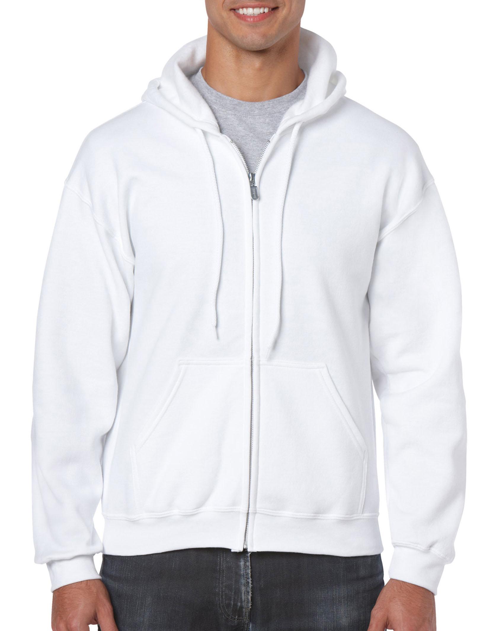 25St Gildan Hoodie Full Zip incl. 1k opdruk (White)