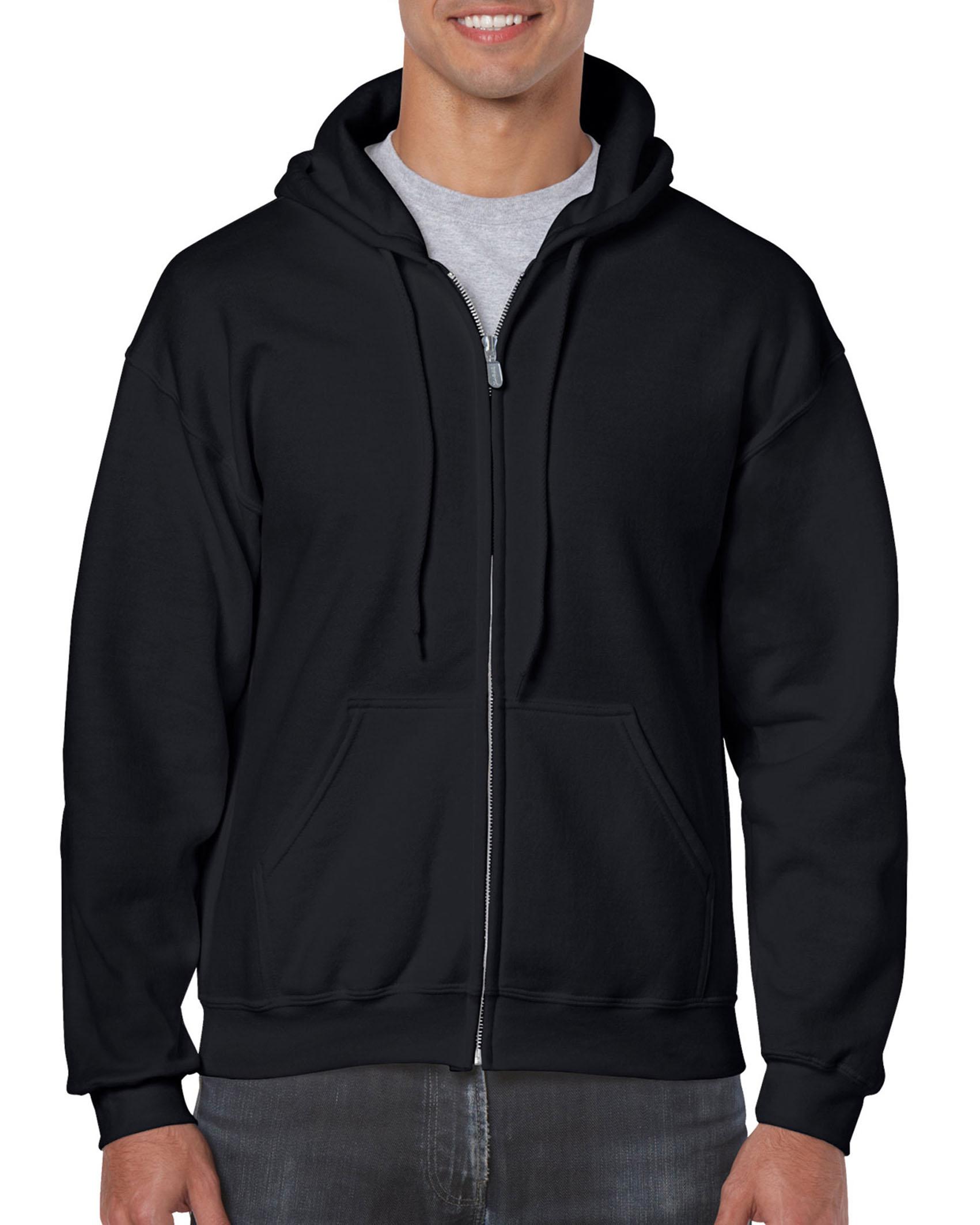 25St Gildan Hoodie Full Zip incl. 1k opdruk (Black)
