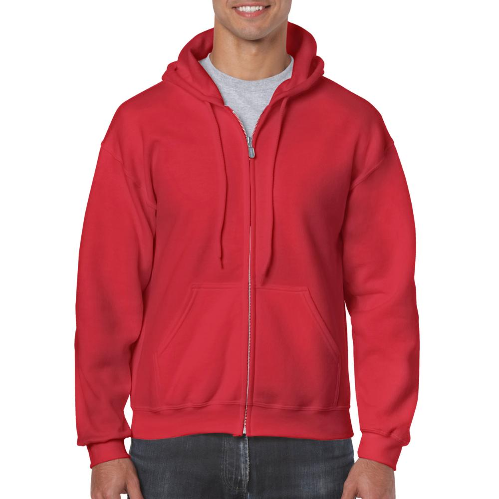 Gildan HeavyBlend Full Zip Hoodie Heren (7620 Red) 3XL
