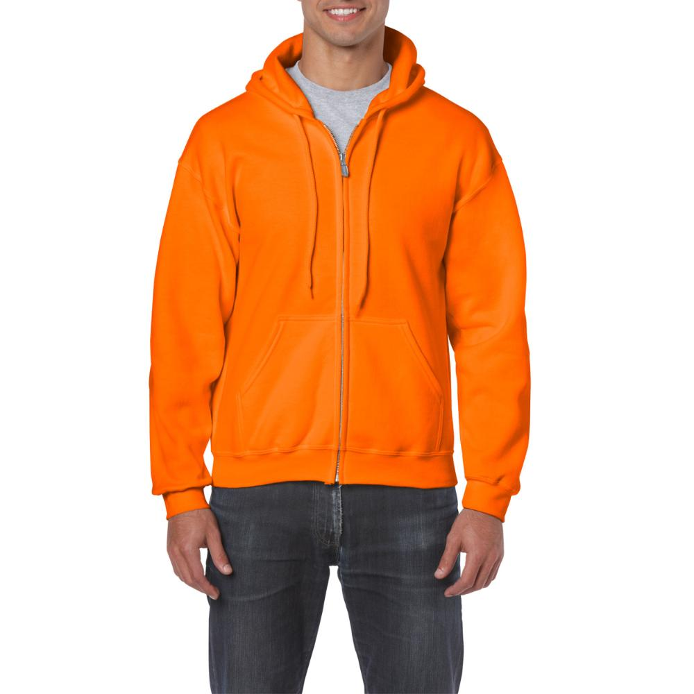 Gildan HeavyBlend Full Zip Hoodie Heren (21 Safe Orange) S