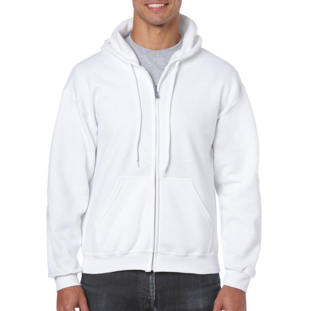Gildan HeavyBlend Full Zip Hoodie Heren (000 White) 3XL