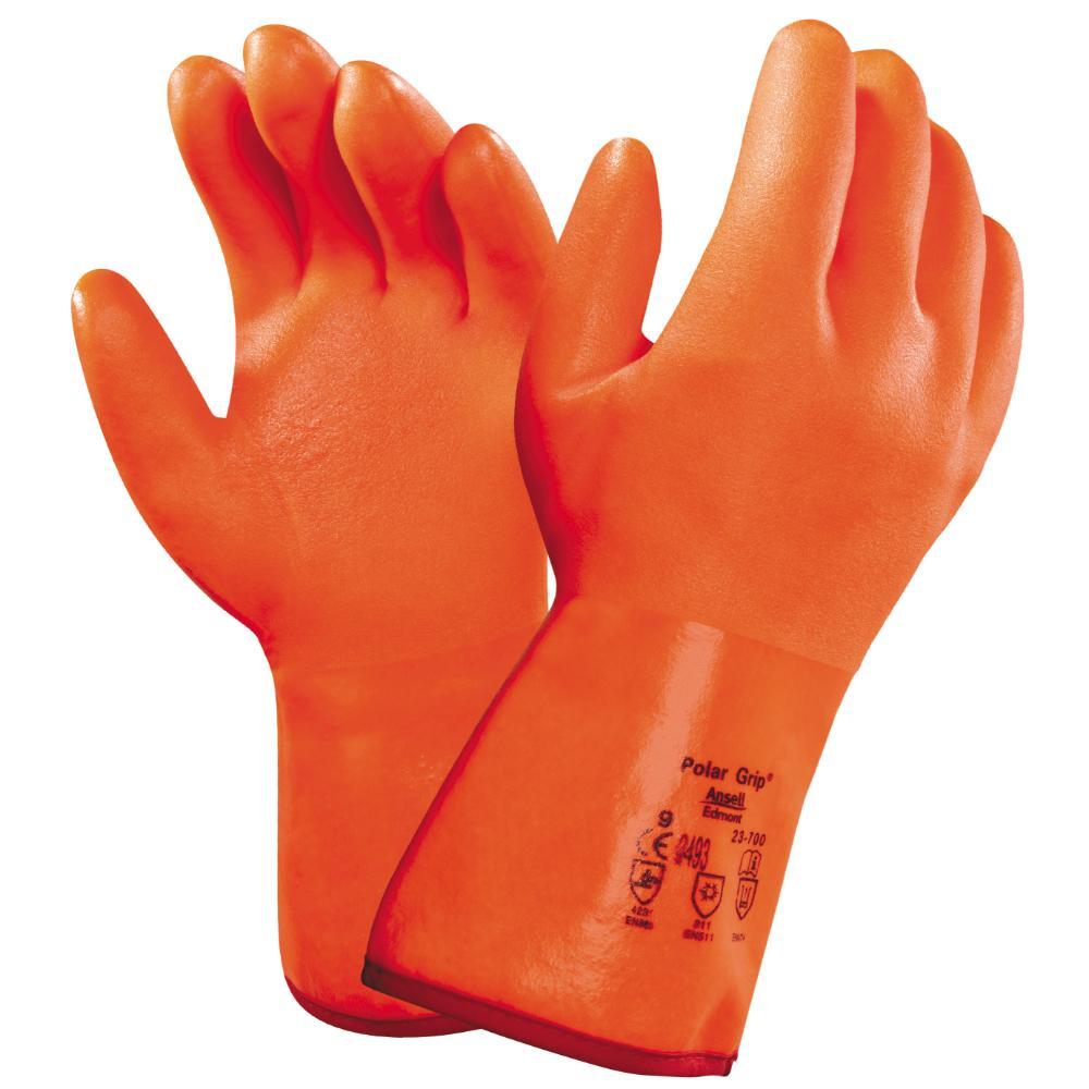 6 Paar Ansell Polar Grip 23-700 (Oranje) 9/L