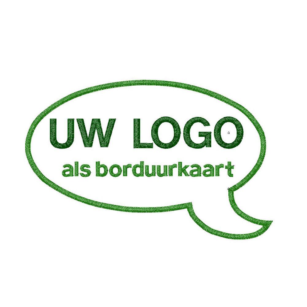 Borduurkaart ontwerp per logo. Eenmalige kosten.