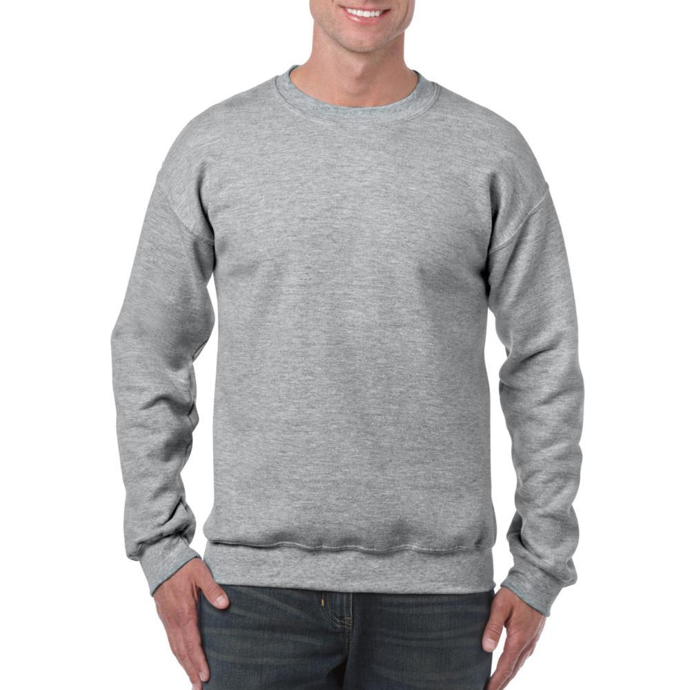25St Gildan Sweater incl. 1k opdruk (Grey Heather)