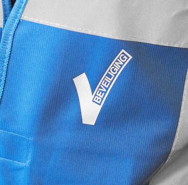 V-logo voor beveiligers. Linkerborst
