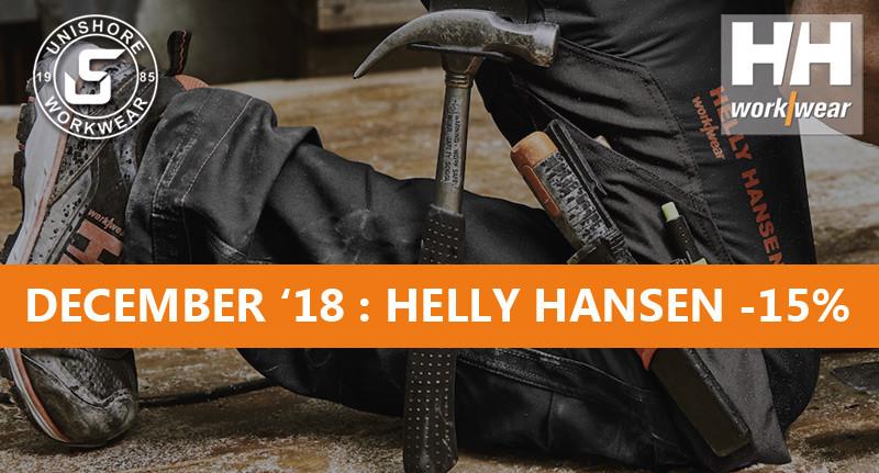 December feestmaand: 15% korting op Helly Hansen