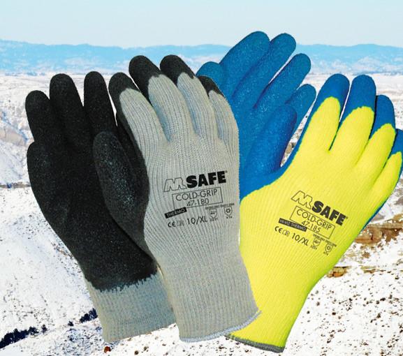 Betaalbare winter werkhandschoenen: M-Safe Coldgrip 47-180 en 47-185