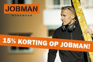 ACTIE: nu 15% korting op Jobman werkkleding!